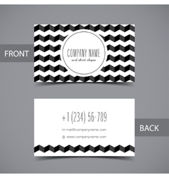Business card front and back with abstract vector image