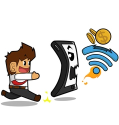 Businessman wifi concept vector image