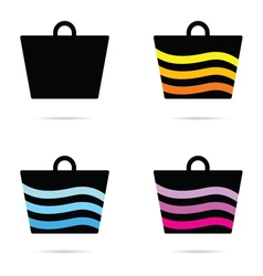Carrier bag icon vector