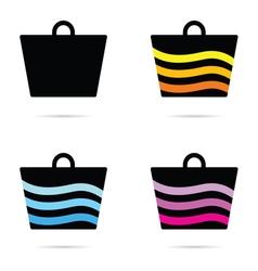 Carrier bag icon vector