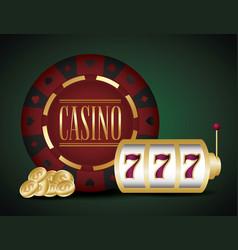 Casino and jackpot design vector