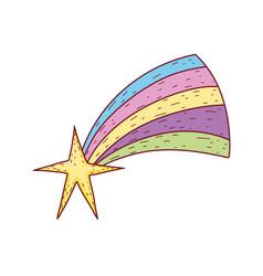 christmas shooting star icon vector image