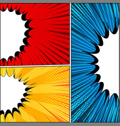comic abstract backgrounds vector image