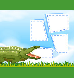 Crocodile in frame background vector