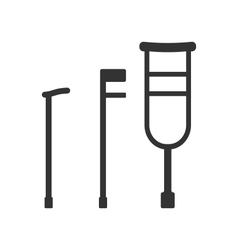 Crutches and Canes vector image