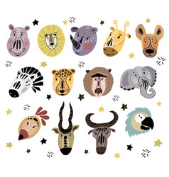 cute africa set vector image