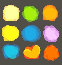 Different color blobs clip-art elements collection vector