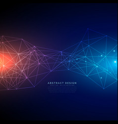Digital technology background made with lines mesh vector