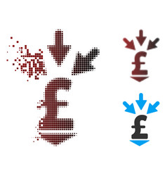 Dispersed pixel halftone integrate pound payment vector