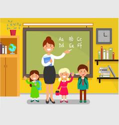 English lesson in school vector