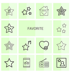 favorite icons vector image