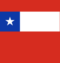 flag of chile in official rate and colors vector image