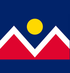 Flag of denver in colorado united states vector