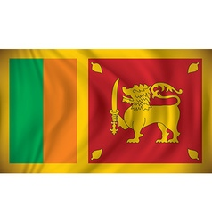Flag of Sri Lanka vector image