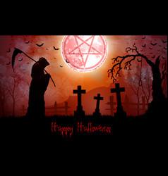 halloween grim reaper holding scy vector image