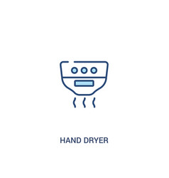 Hand dryer concept 2 colored icon simple line vector