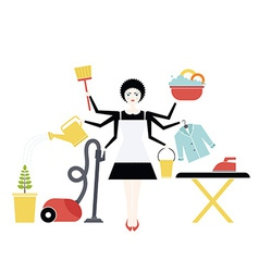 housekeeper vector image