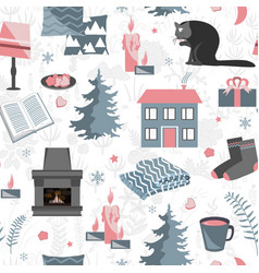 hygge seamless pattern with vector image