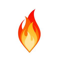 isolate fire flame dangerous bonfire emblem vector image