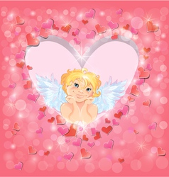 light heart angel 380 vector image