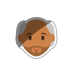 Man face cartoon vector