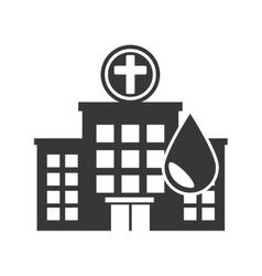 Medical hospital center vector