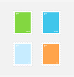 minimalist stamps with elements vector image