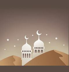 mosque for ramadan background vector image