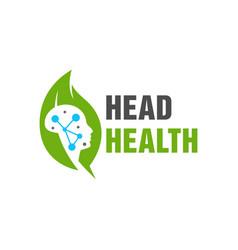 Natural brain health logo vector