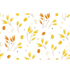oat branches seamless pattern vector image