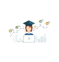 Online education and courses project management vector