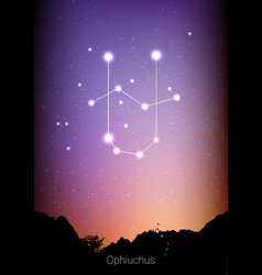 ophiuchus zodiac constellations sign with forest vector image