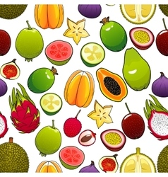 pattern of bright exotic and tropical vector image