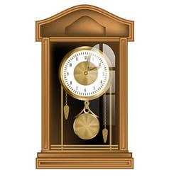 pendulum clock vector image