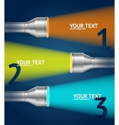 Pocket Torch Light and Text Option Banner vector image