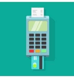 Pos terminal payment machine vector