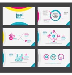 Presentation template flat design set vector