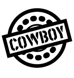 Print cowboy stamp on white vector