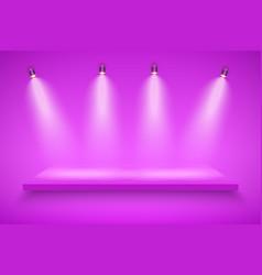Purple presentation platform vector