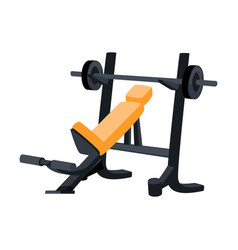 Realistic simulator for bench press lying and vector