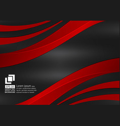 red and black wave with copy space abstract vector image