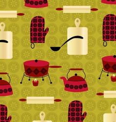 retro fondue vector image