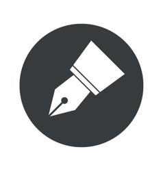 Round ink pen nib icon vector