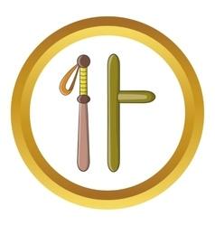 Rubber batons icon vector