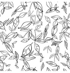 Seamless pattern of leaves natural background vector