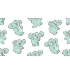 seamless pattern with koalas vector image