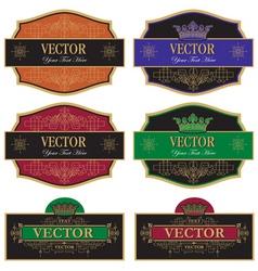 set label vintage vector image vector image