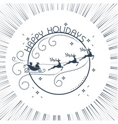 silhouette christmas day vector image