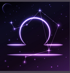 space symbol of libra of zodiac and horoscope vector image