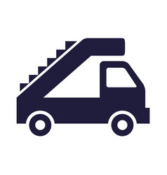 Stairs car airport vehicle icon vector